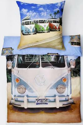 vw bus bettw sche 135x200 cm long beach california neu und. Black Bedroom Furniture Sets. Home Design Ideas