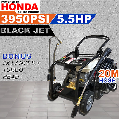 Black Jet Honda Powered 5.5Hp Pressure Washer Cleaner.high Pressure.self-Suction