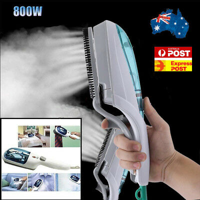 Pro 800W Garment Steamer Ironing Steam Brush Fabric Household Travel Clothes Au