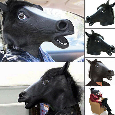 Horse Head Mask Rubber Latex Silicone Panto Fancy Dress Prop Realistic Partyma