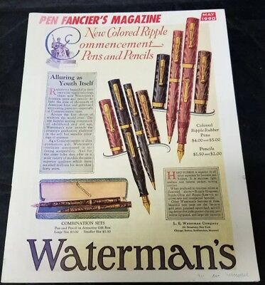 Pen Fancier's Magazine May 1990 Fountain Pen Club Waterman's FREE SHIPPING