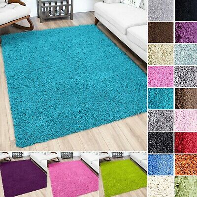 Small To Extra Large Modern 5Cm Thick Pile Multi Colour Non Shed Shaggy Rugs