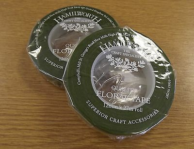 DARK GREEN florist tape /Stem-Tex-suitable for craft, sugarcraft& floristry work