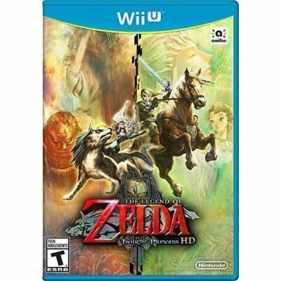 The Legend Of Zelda: Twilight Princess HD For Wii U With Manual And Case 3E