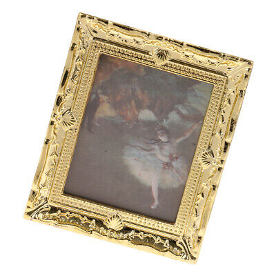 Miniature Dollhouse Framed Wall Painting 1:12 Scale Doll House Accessories C