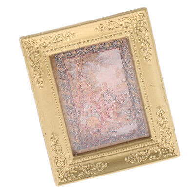 Miniature Dollhouse Framed Wall Painting 1:12 Scale Doll House Accessories B