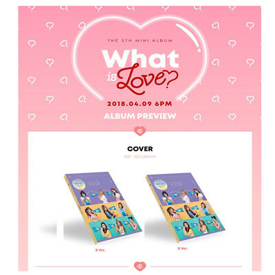 TWICE 5TH MINI ALBUM - WHAT IS LOVE?  CD + BOOKLET + pre order benefits [B VER]