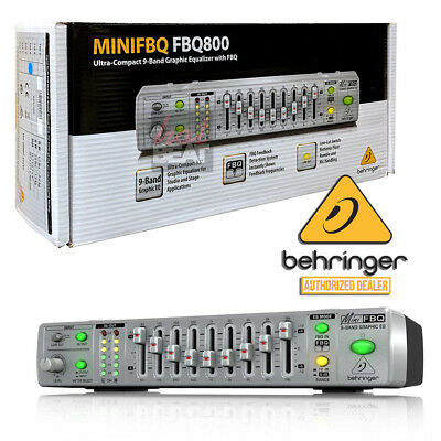 Behringer MINIFBQ FBQ800 Ultra-Compact 9-Band Graphic Equalizer EQ 689076750776
