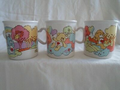 Care Bears Cousins Mugs (Set of 3 all different)  1985 EUC