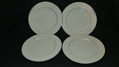 Vintage 364 Wakefield Fine China INT'L Silver co Set of 4 Dinner Plates