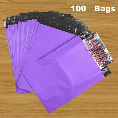 10x13 PURPLE Poly Mailers 100 Shipping Envelopes Couture Boutique Quality Bags