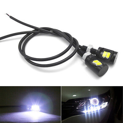 2X White 12V LED SMD Motorcycle&Car License Plate Screw Bolt Light lamp bulb HI