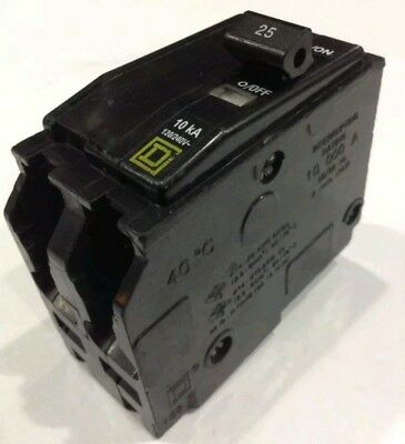 QO225 Square D SQD Type QO Circuit Breaker 2 Pole 25 Amp 240V