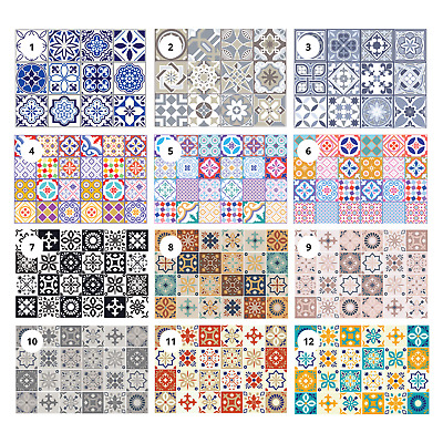 "Various 4"" & 6"" Self Adhesive Mosaic Tile Stickers Decal Kitchen Bathroom Stairs"