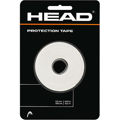 Head Protection Tape - Tennis Racket Head Tape - White - Free P&P