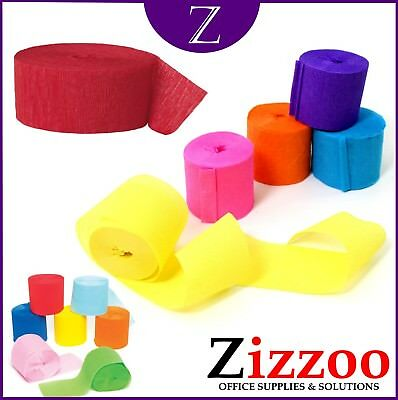 Crepe Paper Streamers Great Colours For Celebrations Parties & Crafts Pack Of 10