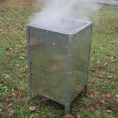 Incinerator Fire Bin 90l Burning Garden Galvanized Waste Wood Leaves Metal Trash