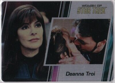 Star Trek Women Of 50Th Anniversary Metal Base Parallel Insert #34 Deanna Troi