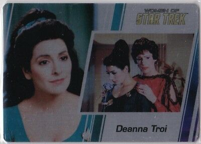 Star Trek Women Of 50Th Anniversary Metal Base Parallel Insert #37 Deanna Troi
