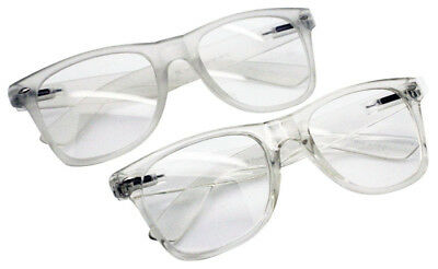Wholesale Lots 12 Pairs 80S Restro Classic Style Clear Frame With Clear Lens