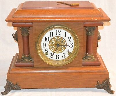 Antique Seth Thomas Wood Adamantine ? 295 Mantle Clock for parts repair Project