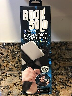Tzumi Rock Solo Karaoke Microphone Speaker Bluetooth Smartphone Holder