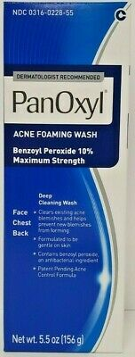 Panoxyl Benzoyl Peroxide 10% Foaming Acne Wash 5.5oz -Expiration Date 08-2019-