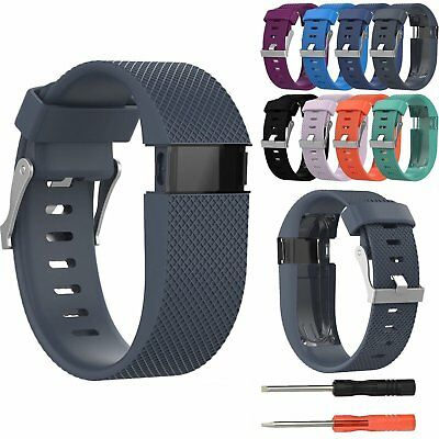 Silicone Replacement Strap Band Wristband Tool Kit For Fitbit Charge HR Activity