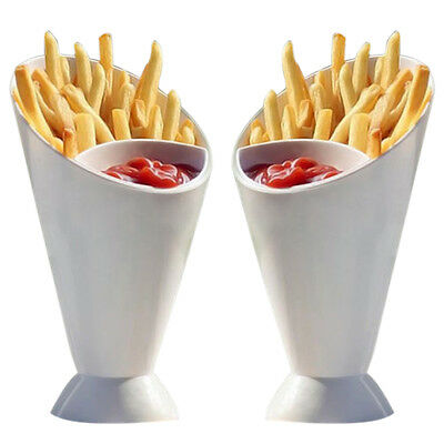 1*Snack Cone Stand Cup With Sauce Dip Chips Finger Food Cups Holder Storage Tool