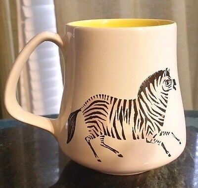 "Poole Pottery England Zebra Horse Small Mug Cup / Kids or child - 3.5"" tall"