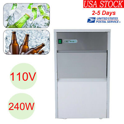 Stainless Steel Built-In Ice Cube Machine Undercounter Free-Standing Ice Maker