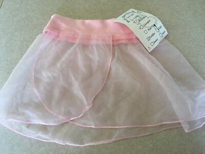 NWT PINK CHIFFON Toddler Dance Skirt Ballet  Body Movements USA Spandex