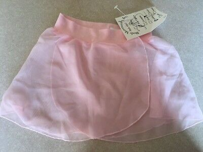 NWT PINK POLY CHIFFON Toddler Dance Skirt Ballet  Body Movements USA Spandex