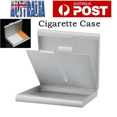 20 Cigarette Case Box Holder Cigarettes Box Thin Slim Aluminum Silver