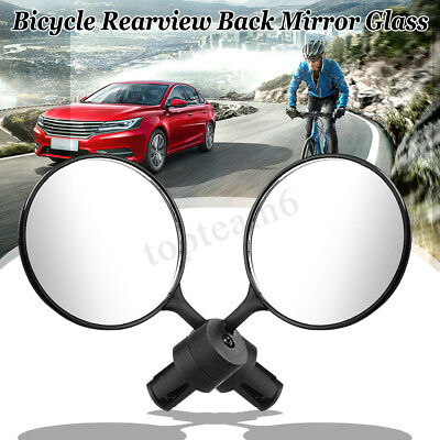 2X Flexible Bicycle Bar End Handlebar Mirror Bike Rear View Cycling Mtb/road Uk
