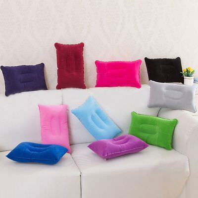 Double Sided Inflatable Pillow Mat Cushion For Camping Travel Sleep