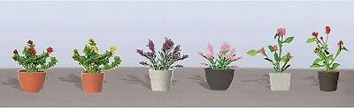 """JTT Scenery Products - Flowering Potted Plants Assortment 1, 5/8"""" (6)"""