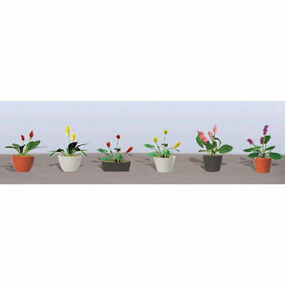 """JTT Scenery Products - Flowering Potted Plants Assortment 3, 1"""" (6)"""