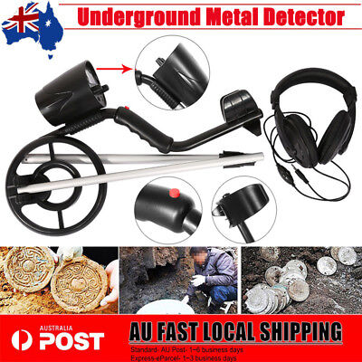 Deep Sensitive Metal Detector Search Gold Treasure Hunter Digger + Headphone Kit