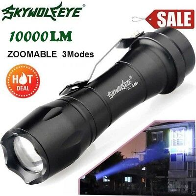 ZOOMABLE 5000LM Q5 AA/14500 3 Modes LED Taschenlampe Fackel Super Hell XY