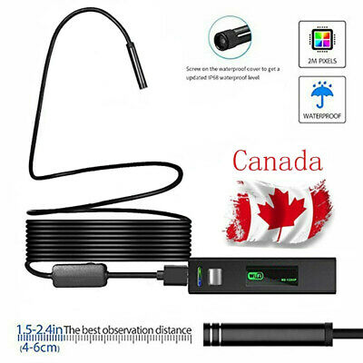 8LED Wireless Endoscope WiFi Borescope Inspection 1200P Camera Waterproof CA