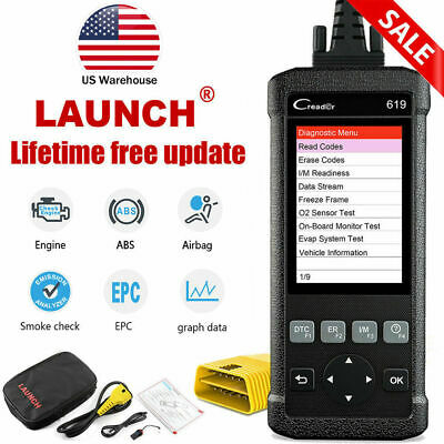 NEW Car's ABS, SRS(Airbag) System Scan Tool OBDII Scanner Launch CR619 Code Read