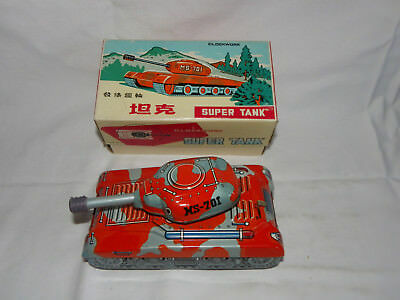 Blechspielzeug Panzer Super Tank Ms 701 Clockwork - Made In China