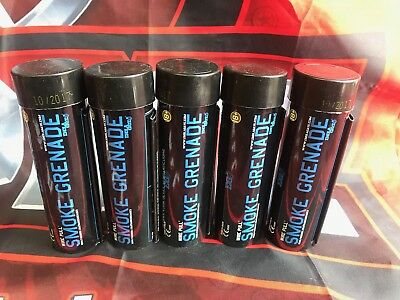 5x Rauchgranate Blau Enola WP40 Airsoft  Paintball Gotcha Bengalo Fußball