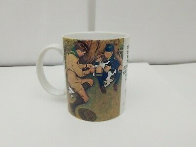 Norman Rockwell Coffee Mug: Boy Scouts Of America, Friend In Need, USA Vintage