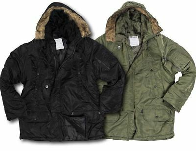 7b1ca52d88b Mil-Tec Us N-3B Parka Snorkel Fur Hood Extreme Cold Weather Armed Forces