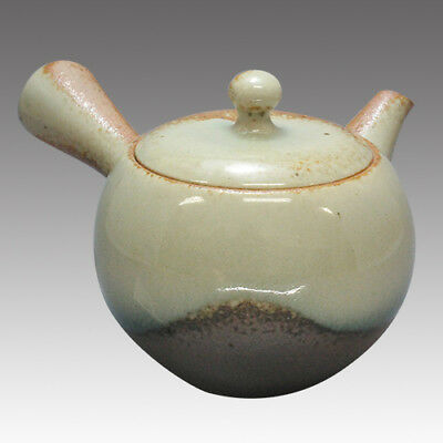 Tokoname Kyusu teapot - ISSIN - Ash glaze 360cc/ml - Refresh stainless steel net