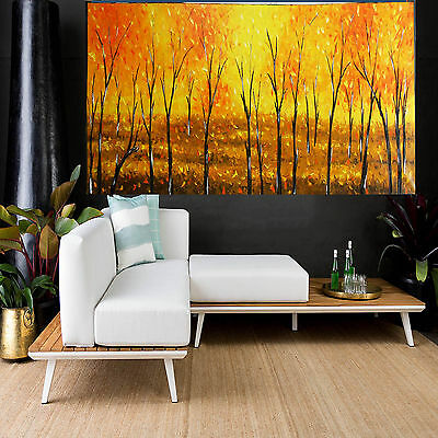 Tree Art Painting Forest Modern Landscape Fire  Aboriginal by Jane Crawford