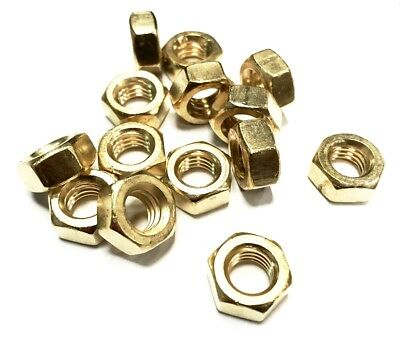 Solid Brass Metric Nuts M4 M5 M6 M8 M10 M12 M16 M20 You Choose DIN 934 Nut DIY