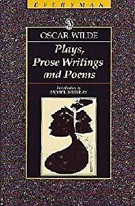 Plays, Prose Writings and Poems (Everymans Classic Library), Wilde, Oscar, Used;